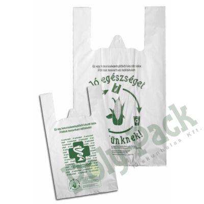 Kukoricakeményítő alapú (EN13432) PLA ingvállas táska